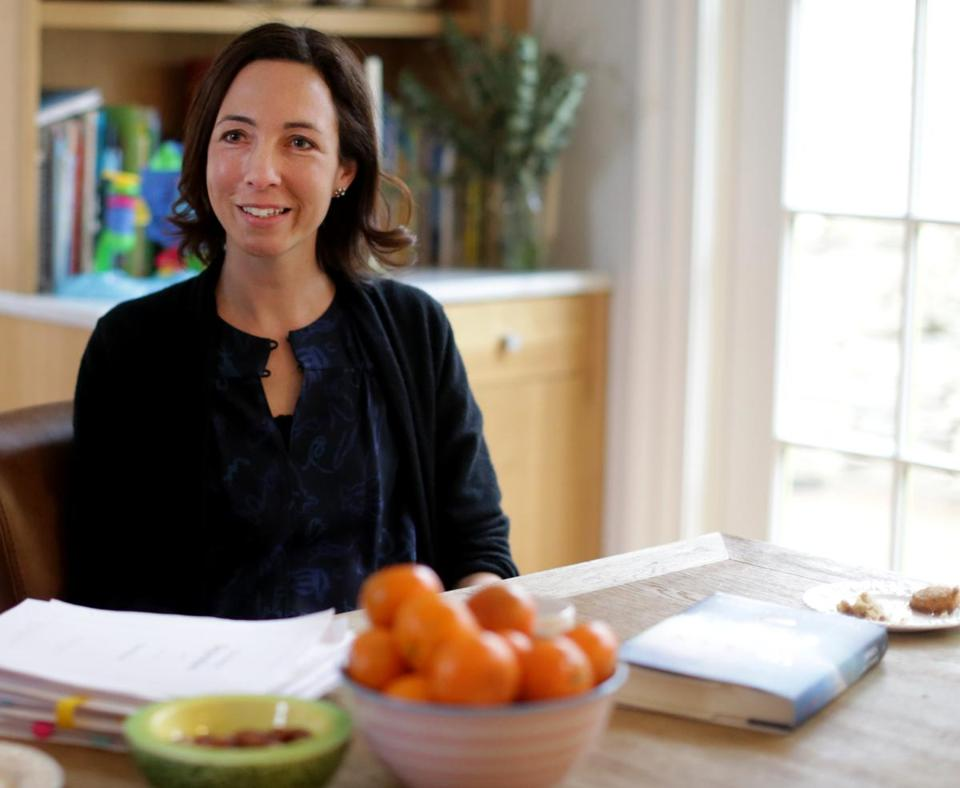 Brookline Ma 03/07/2017 Author Jessica Shattuck (cq) held a roundtable discussion at her Brookline home for a group of female authors. Jonathan Wiggs /GlobeStaff) Reporter:Topic